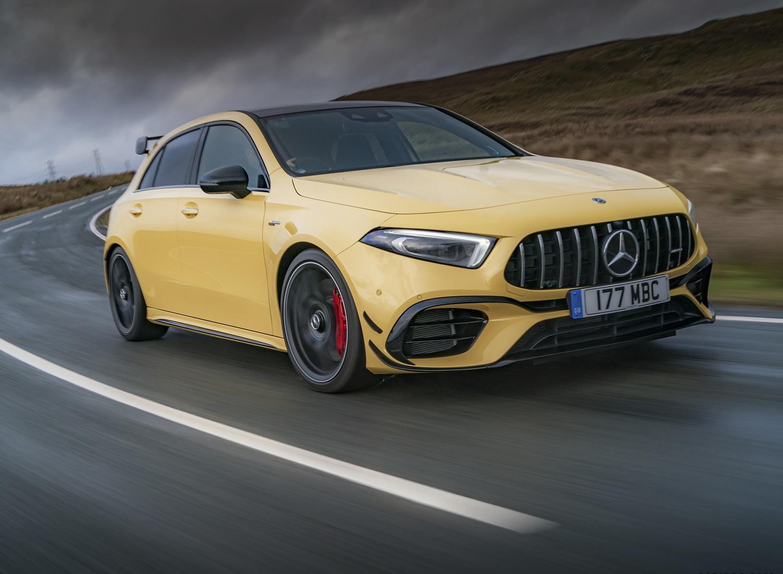 2020 Mercedes-AMG A 45 S (UK-Spec) Front Three-Quarter Wallpapers (3)