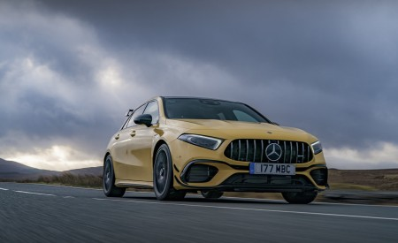 2020 Mercedes-AMG A 45 S (UK-Spec) Front Three-Quarter Wallpapers 450x275 (9)