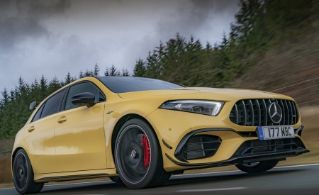 2020 Mercedes-AMG A 45 S (UK-Spec) Front Three-Quarter Wallpapers 450x275 (2)