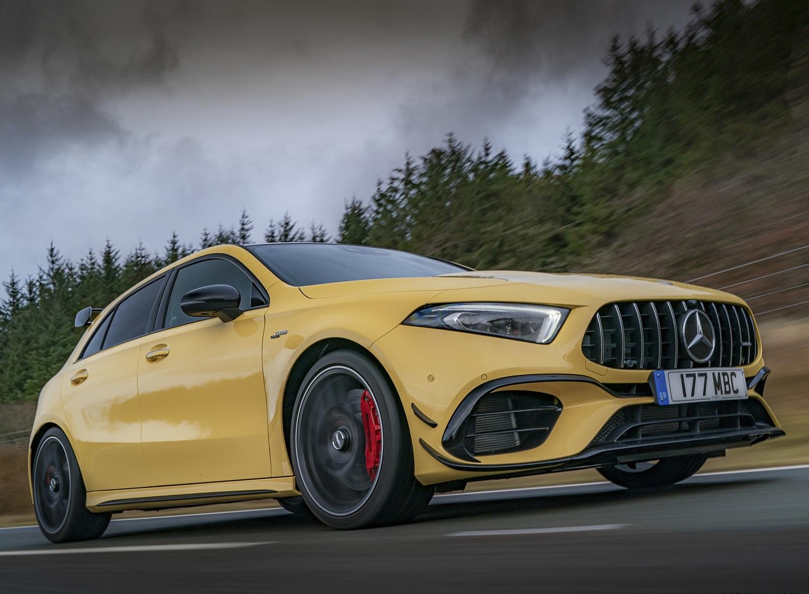 2020 Mercedes-AMG A 45 S (UK-Spec) Front Three-Quarter Wallpapers (2)
