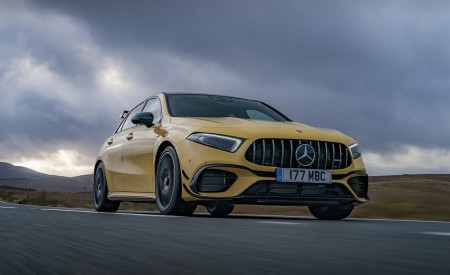 2020 Mercedes-AMG A 45 S (UK-Spec) Front Three-Quarter Wallpapers 450x275 (10)