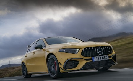 2020 Mercedes-AMG A 45 S (UK-Spec) Front Three-Quarter Wallpapers 450x275 (11)