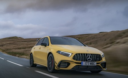 2020 Mercedes-AMG A 45 S (UK-Spec) Front Three-Quarter Wallpapers 450x275 (12)