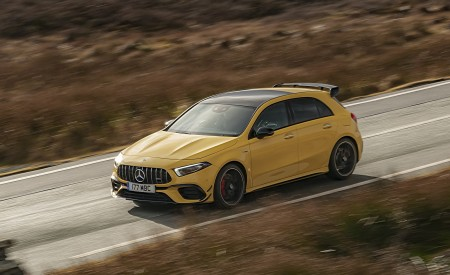 2020 Mercedes-AMG A 45 S (UK-Spec) Front Three-Quarter Wallpapers 450x275 (32)