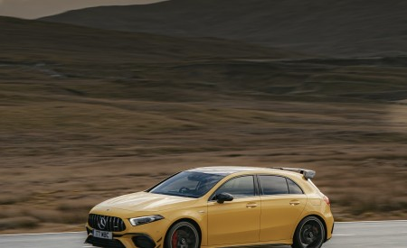 2020 Mercedes-AMG A 45 S (UK-Spec) Front Three-Quarter Wallpapers 450x275 (22)