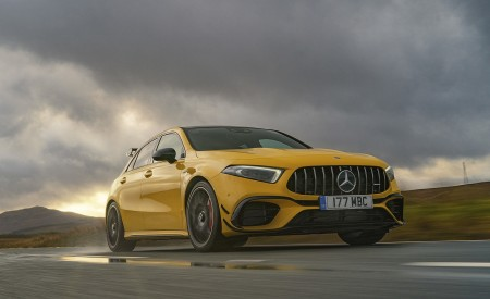 2020 Mercedes-AMG A 45 S (UK-Spec) Front Three-Quarter Wallpapers 450x275 (14)
