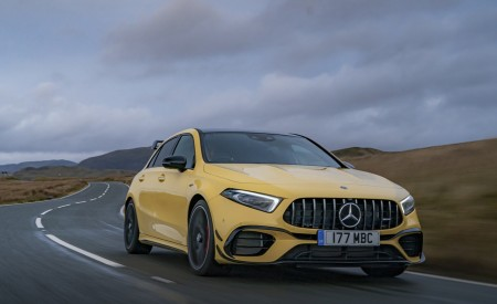2020 Mercedes-AMG A 45 S (UK-Spec) Front Three-Quarter Wallpapers 450x275 (4)