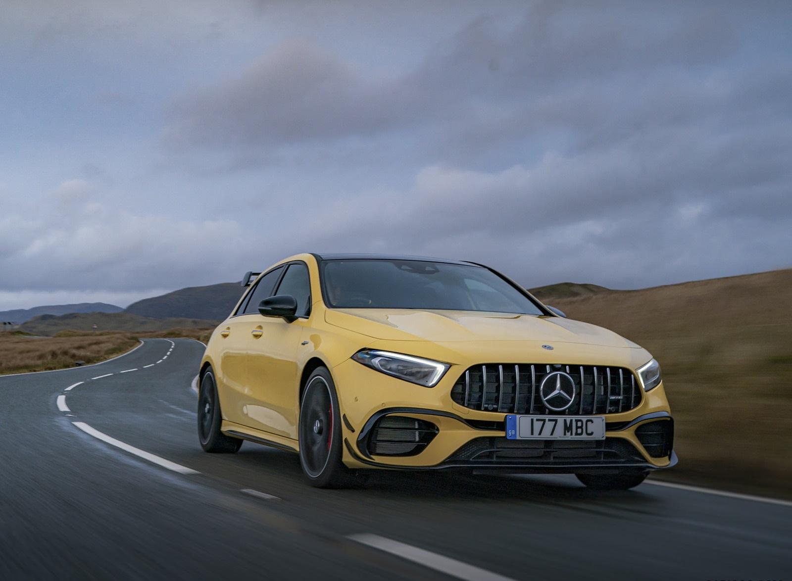 2020 Mercedes-AMG A 45 S (UK-Spec) Front Three-Quarter Wallpapers (4)
