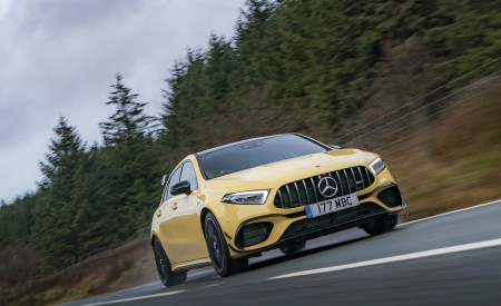 2020 Mercedes-AMG A 45 S (UK-Spec) Front Wallpapers 450x275 (5)