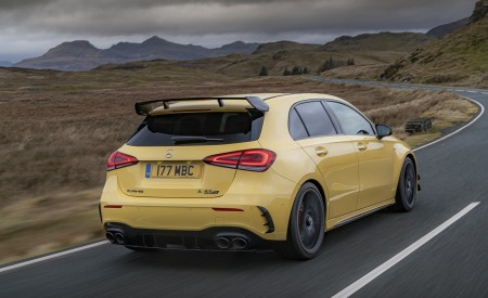 2020 Mercedes-AMG A 45 S (UK-Spec) Rear Three-Quarter Wallpapers 450x275 (23)