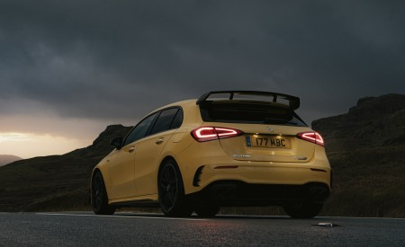 2020 Mercedes-AMG A 45 S (UK-Spec) Rear Three-Quarter Wallpapers 450x275 (44)