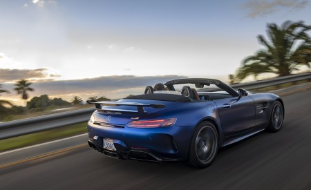 2020 Mercedes-AMG GT R Roadster (US-Spec) Rear Three-Quarter Wallpapers 450x275 (12)