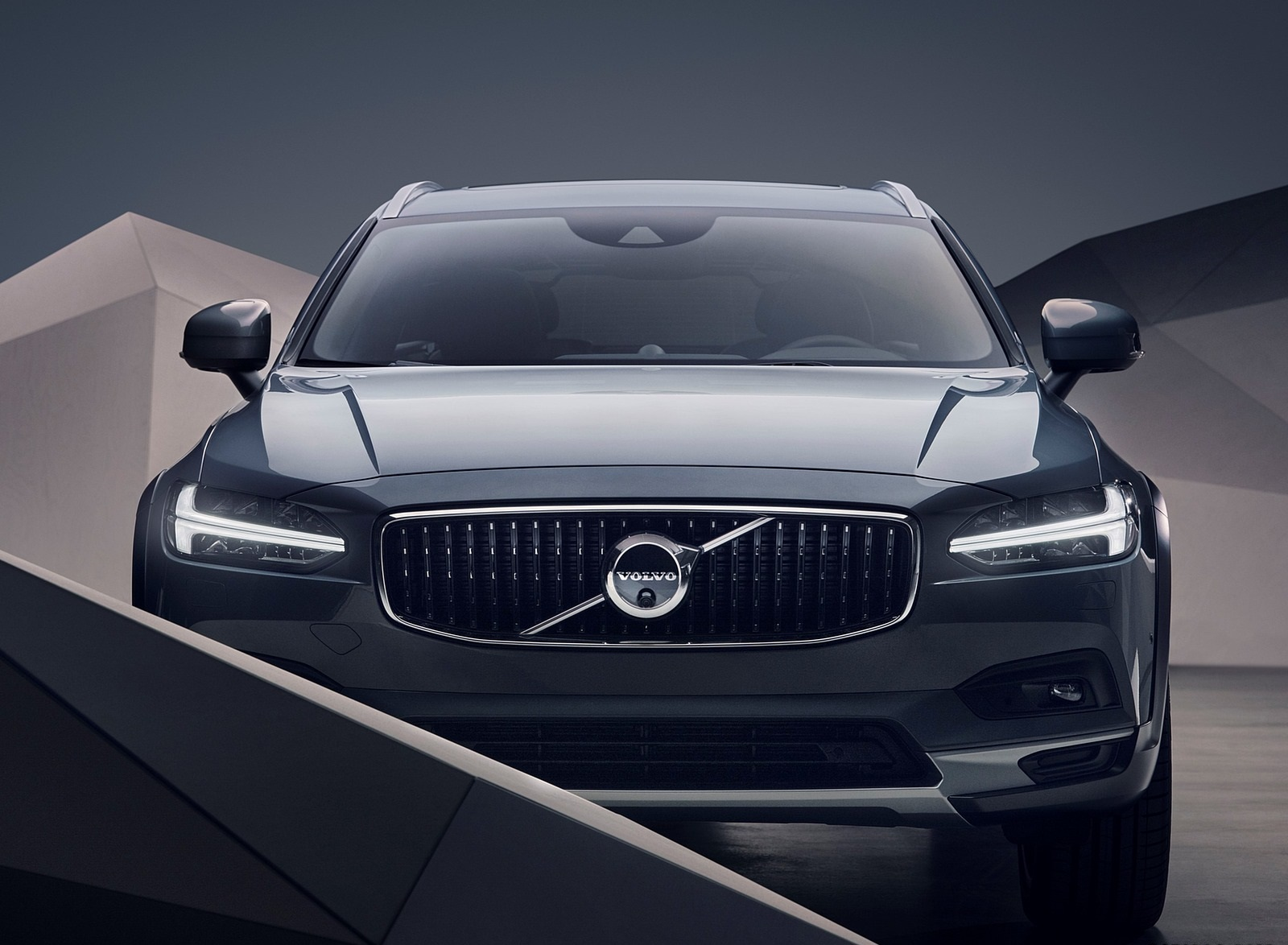 2020 Volvo S90 Recharge T8 plug-in hybrid (Color: Platinum Grey) Front Wallpapers (9)