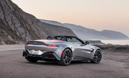 2021 Aston Martin Vantage Roadster (Color: Spirit Silver; US-Spec) Rear Three-Quarter Wallpapers 450x275 (117)