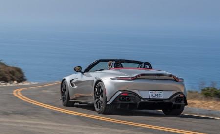 2021 Aston Martin Vantage Roadster (Color: Spirit Silver; US-Spec) Rear Three-Quarter Wallpapers 450x275 (90)