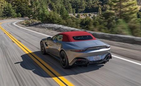 2021 Aston Martin Vantage Roadster (Color: Spirit Silver; US-Spec) Rear Three-Quarter Wallpapers 450x275 (77)