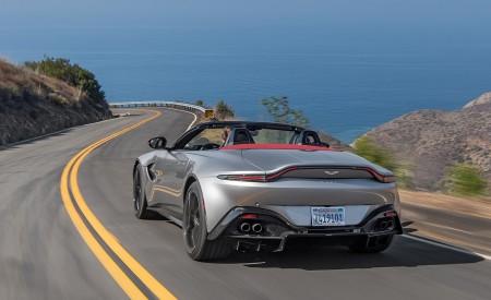 2021 Aston Martin Vantage Roadster (Color: Spirit Silver; US-Spec) Rear Wallpapers 450x275 (93)