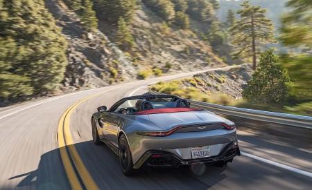 2021 Aston Martin Vantage Roadster (Color: Spirit Silver; US-Spec) Rear Wallpapers 450x275 (81)