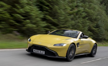 2021 Aston Martin Vantage Roadster (Color: Yellow Tang) Front Three-Quarter Wallpapers 450x275 (8)