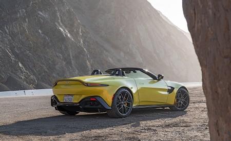 2021 Aston Martin Vantage Roadster (Color: Yellow Tang; US-Spec) Rear Three-Quarter Wallpapers  450x275 (143)