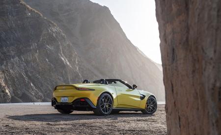 2021 Aston Martin Vantage Roadster (Color: Yellow Tang; US-Spec) Rear Three-Quarter Wallpapers 450x275 (144)