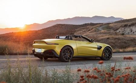 2021 Aston Martin Vantage Roadster (Color: Yellow Tang; US-Spec) Rear Three-Quarter Wallpapers  450x275 (145)