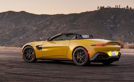 2021 Aston Martin Vantage Roadster (Color: Yellow Tang; US-Spec) Rear Three-Quarter Wallpapers 450x275 (146)