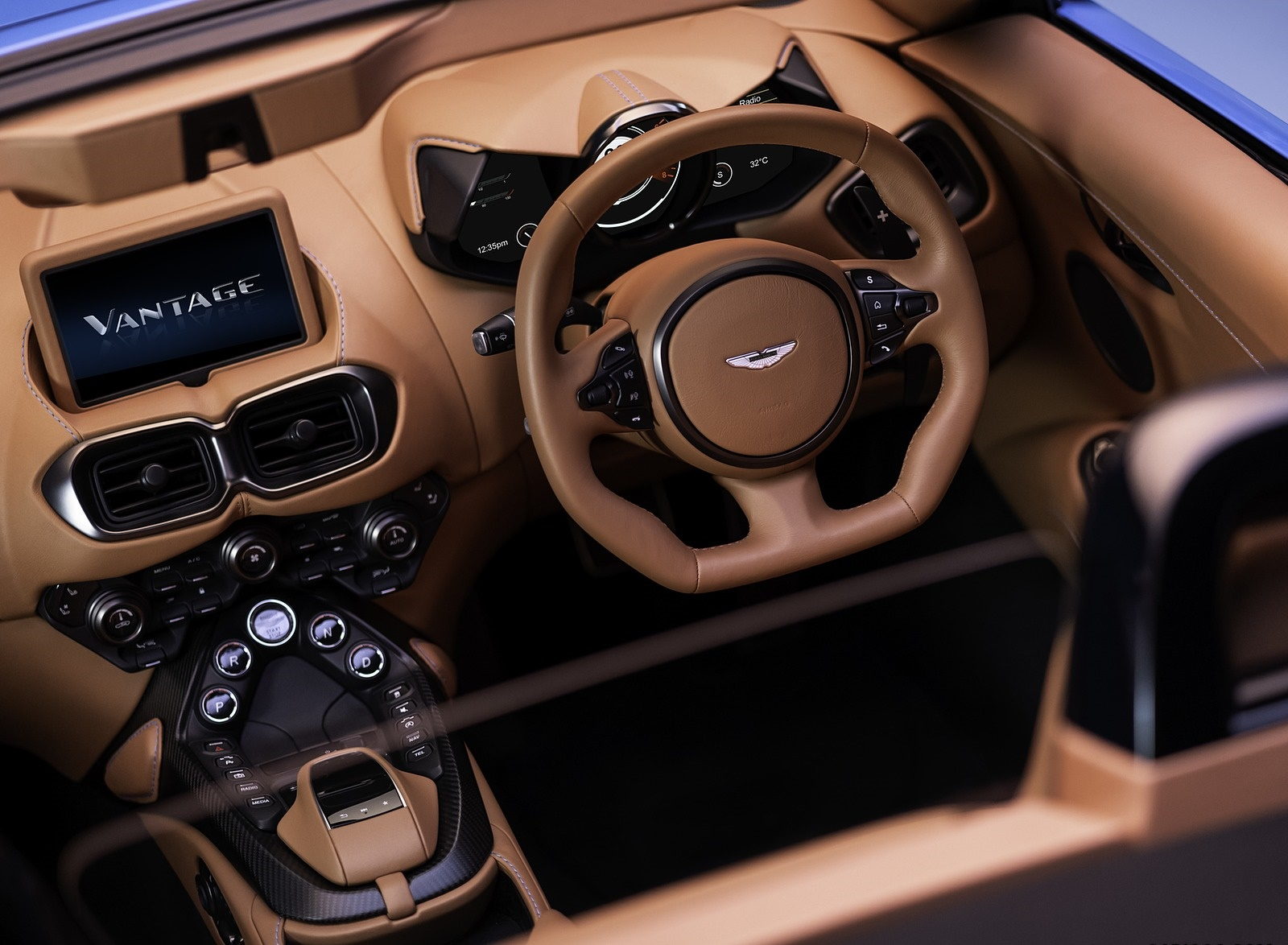 2021 Aston Martin Vantage Roadster Interior Wallpapers 174 Newcarcars