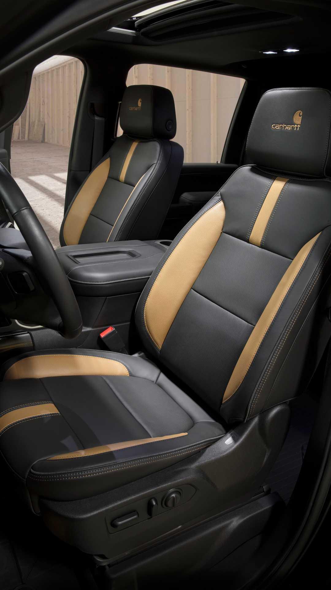 2021 Chevrolet Silverado HD Carhartt Special Edition Interior Front Seats Wallpapers (9)