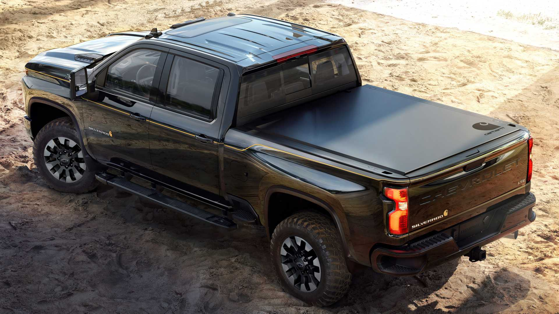 2021 Chevrolet Silverado HD Carhartt Special Edition Rear Three-Quarter Wallpapers (2)