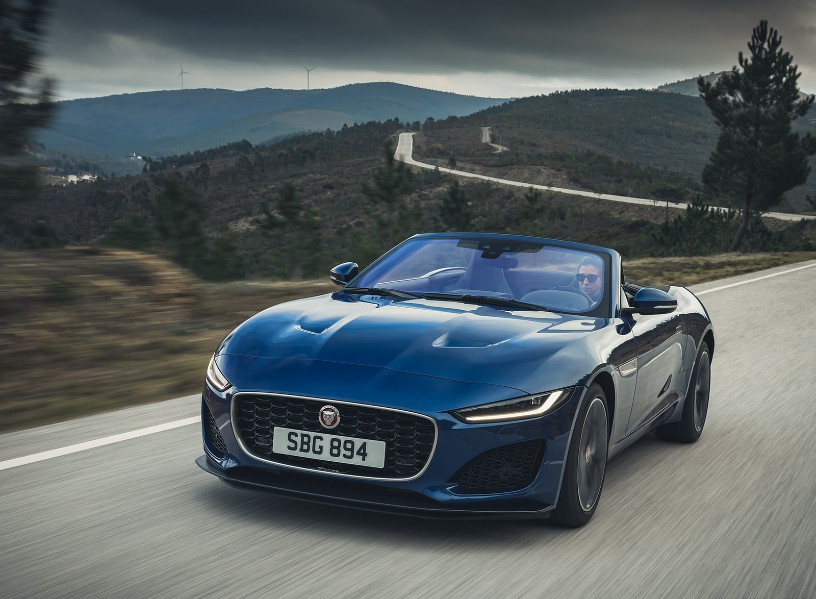 2021 Jaguar F-TYPE P300 Convertible RWD (Color: Bluefire) Front Three-Quarter Wallpapers (5)