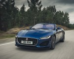 2021 Jaguar F-TYPE P300 Convertible RWD (Color: Bluefire) Front Three-Quarter Wallpapers 150x120 (2)