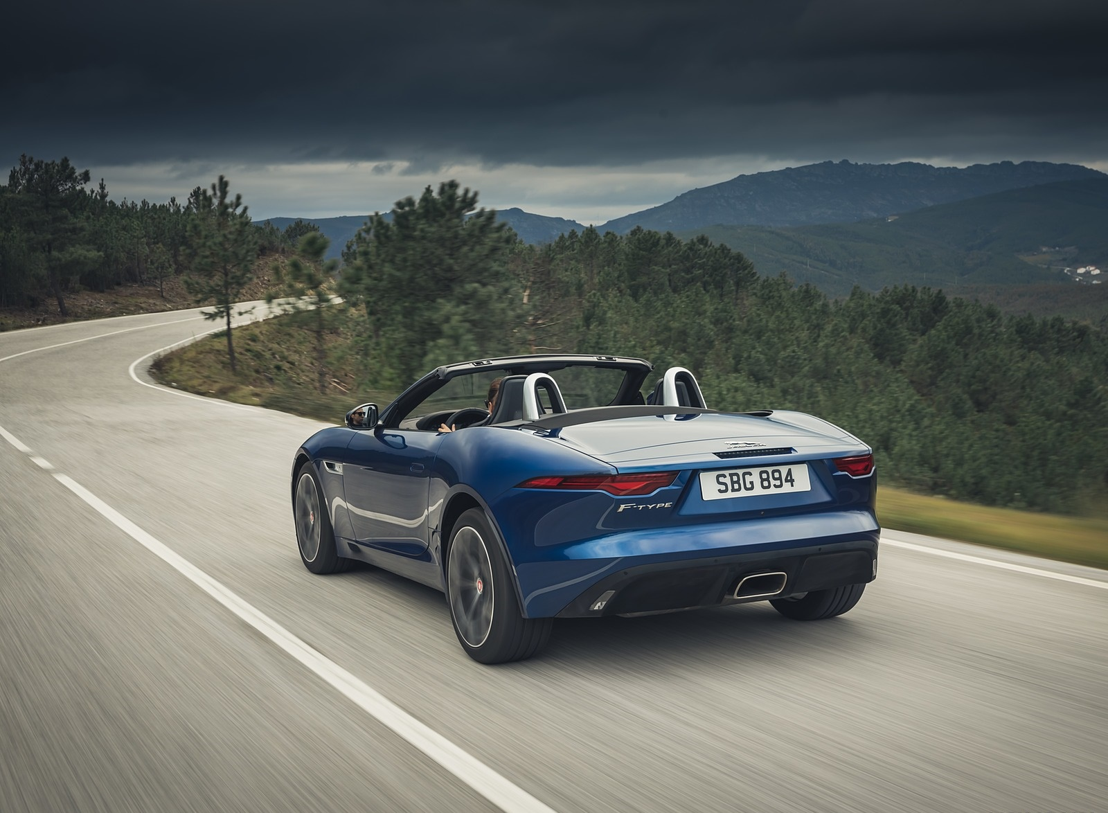 2021 Jaguar F-TYPE P300 Convertible RWD (Color: Bluefire) Rear Three-Quarter Wallpapers (8)