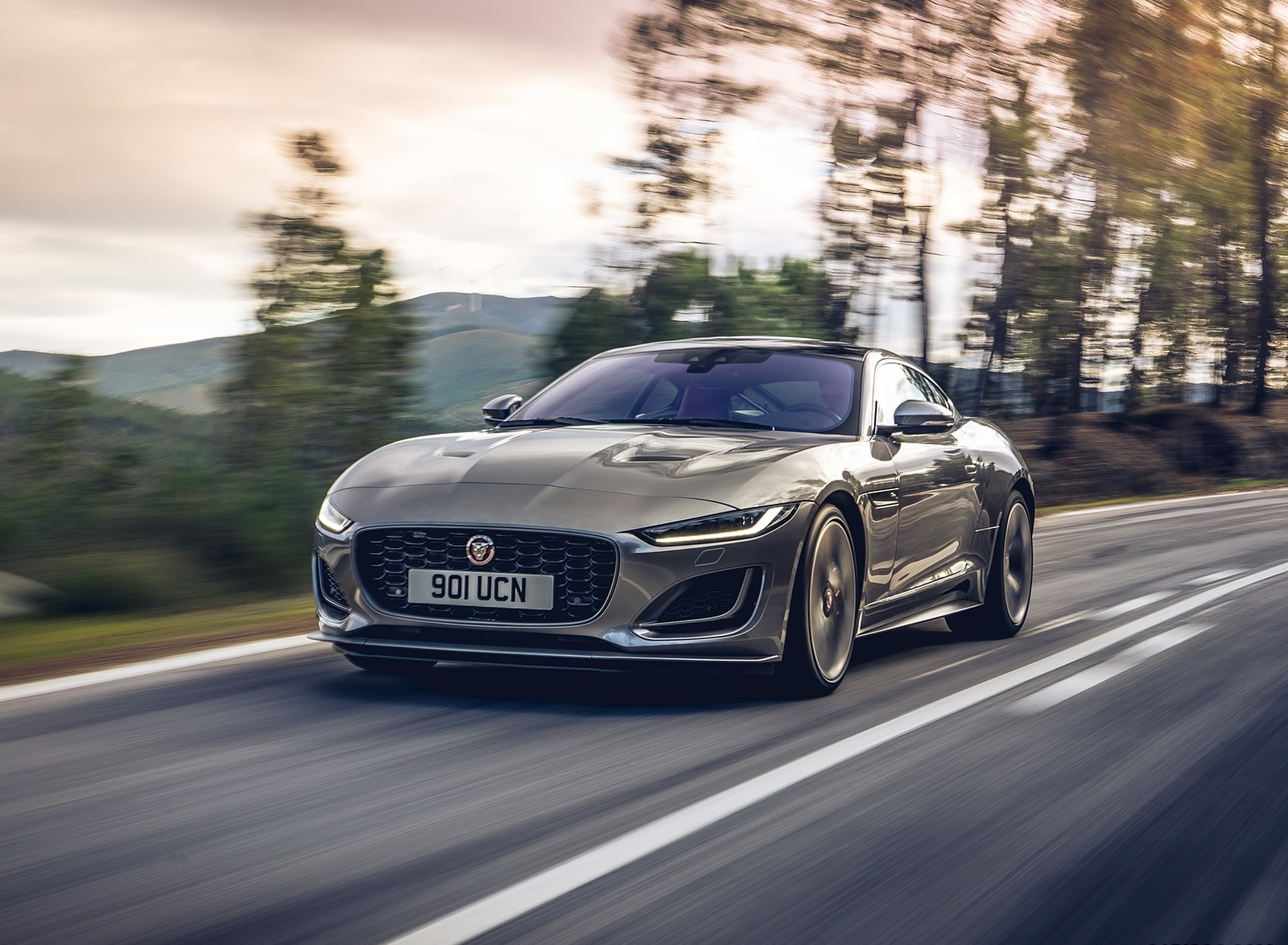 2021 Jaguar F-TYPE P300 Coupe RWD (Color: Eiger Grey) Front Three-Quarter Wallpapers (2)