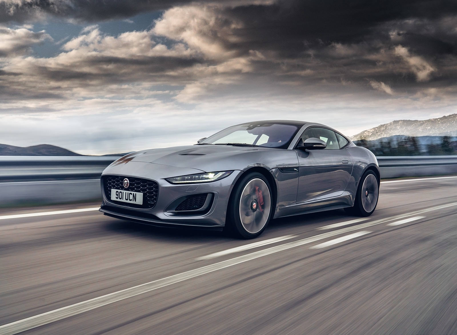 2021 Jaguar F-TYPE P300 Coupe RWD (Color: Eiger Grey) Front Three-Quarter Wallpapers (3)