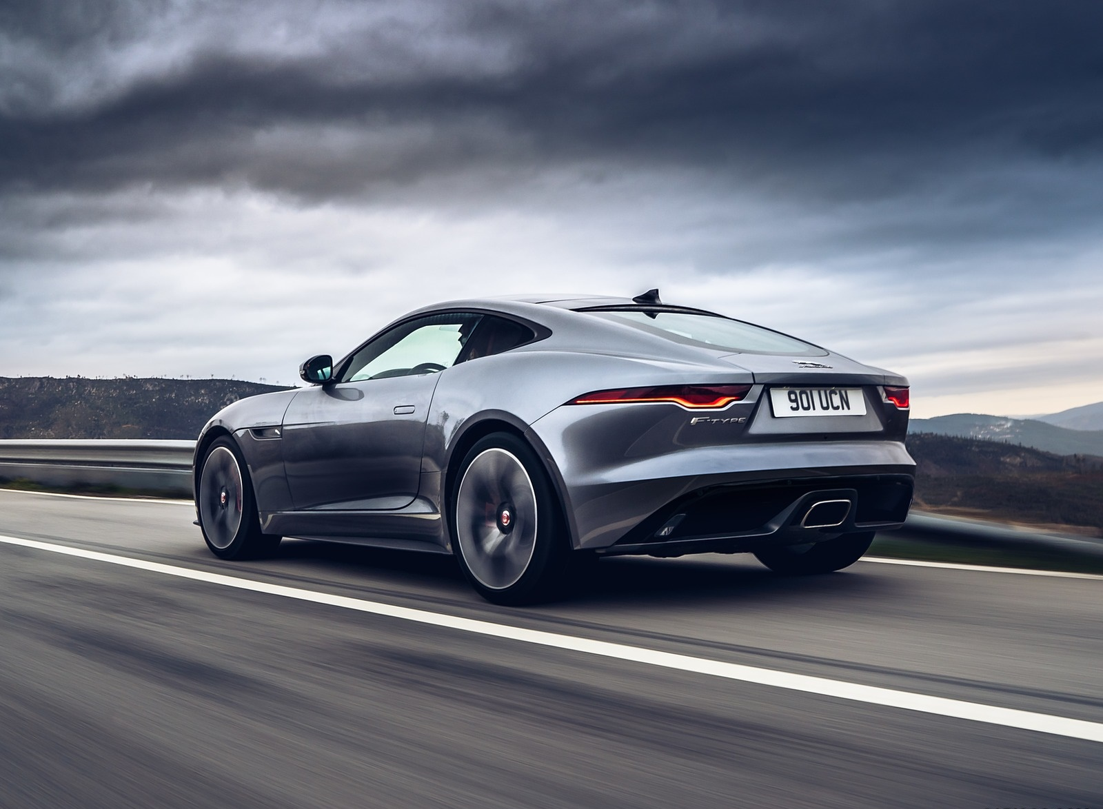 2021 Jaguar F-TYPE P300 Coupe RWD (Color: Eiger Grey) Rear Three-Quarter Wallpapers (7)