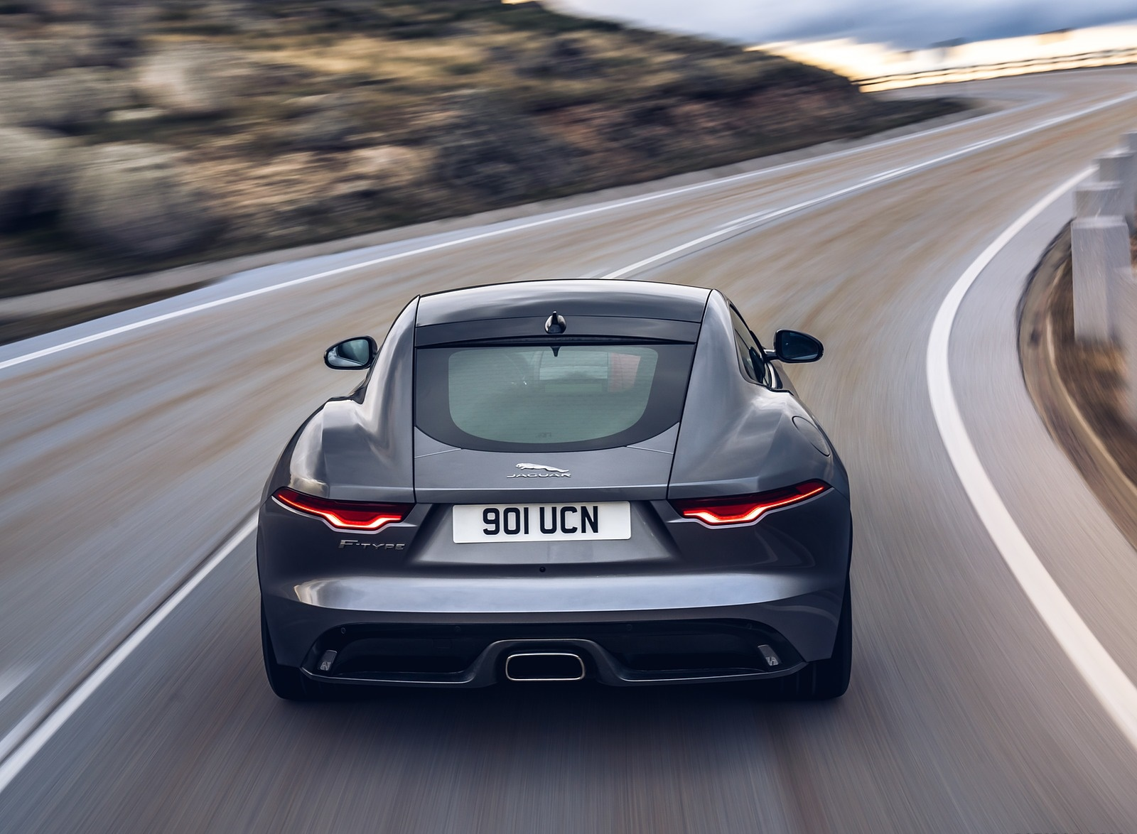 2021 Jaguar F-TYPE P300 Coupe RWD (Color: Eiger Grey) Rear Wallpapers (9)