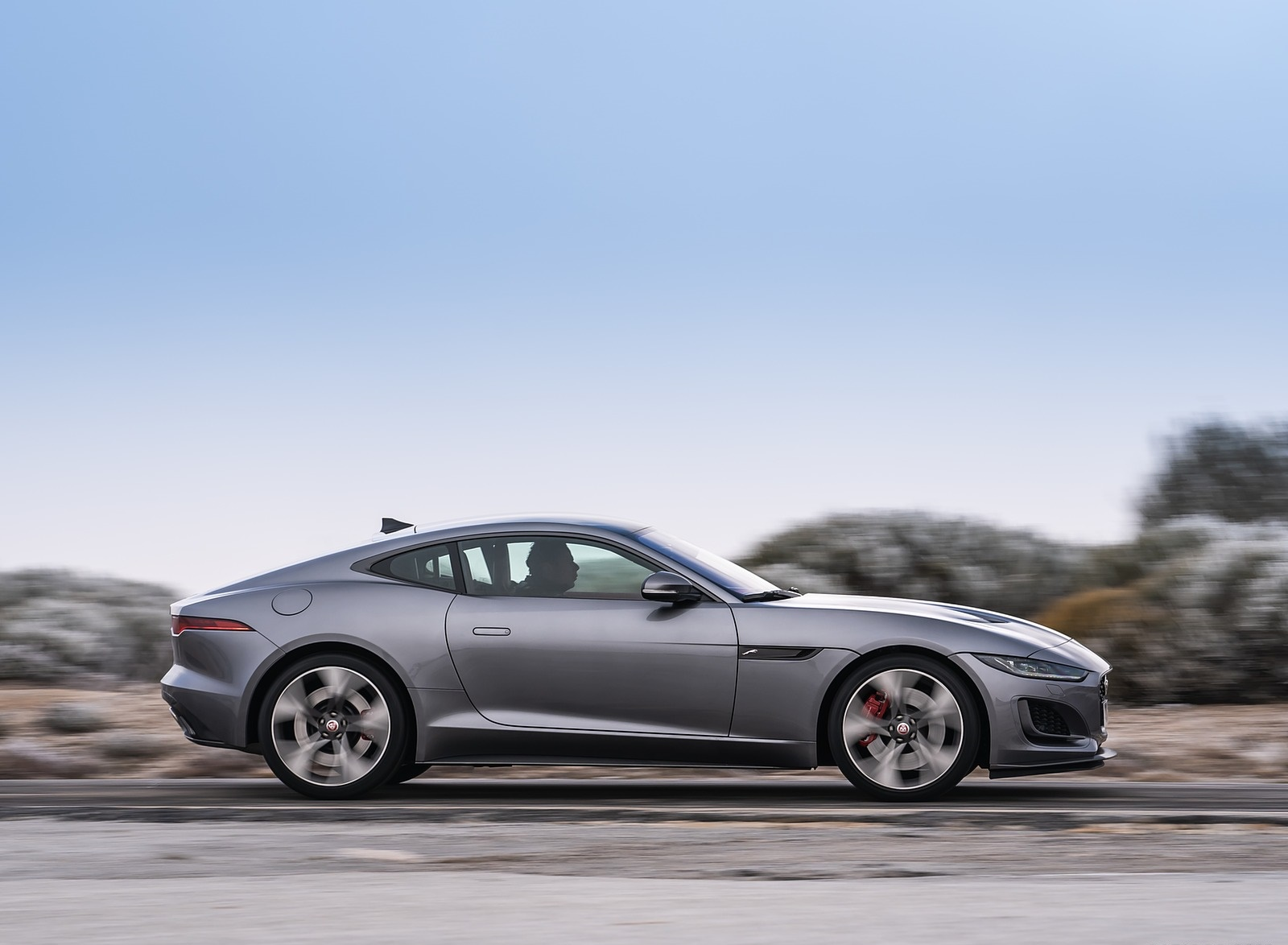 2021 Jaguar F-TYPE P300 Coupe RWD (Color: Eiger Grey) Side Wallpapers (10)