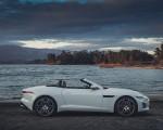 2021 Jaguar F-TYPE R-Dynamic P450 Convertible RWD (Color: Fuji White) Side Wallpapers 150x120 (19)