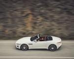2021 Jaguar F-TYPE R-Dynamic P450 Convertible RWD (Color: Fuji White) Side Wallpapers 150x120 (17)