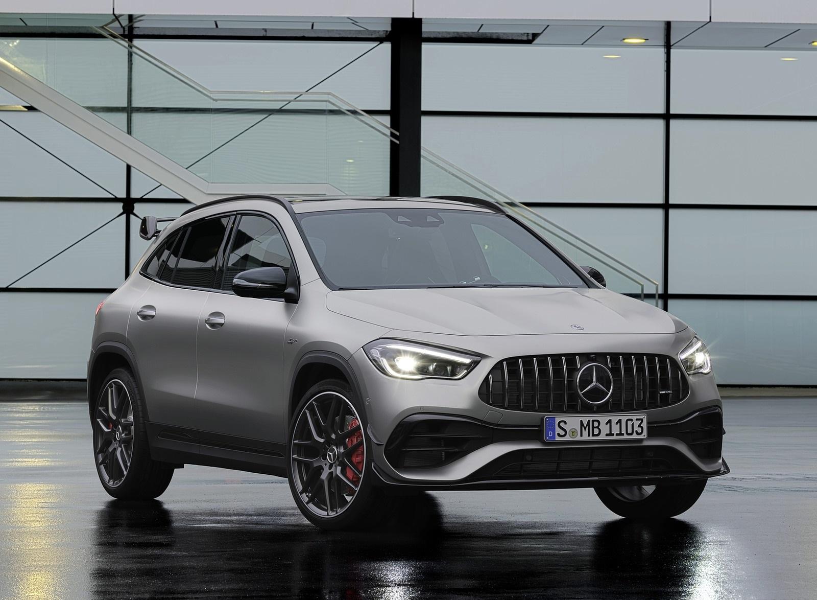 2021 Mercedes-AMG GLA 45 S 4MATIC+ (Color: Magno Grey) Front Three-Quarter Wallpapers (10)