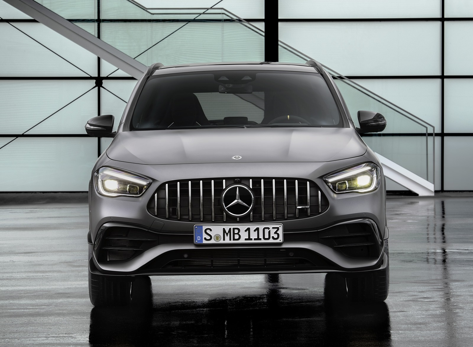 2021 Mercedes-AMG GLA 45 S 4MATIC+ (Color: Magno Grey) Front Wallpapers (8)