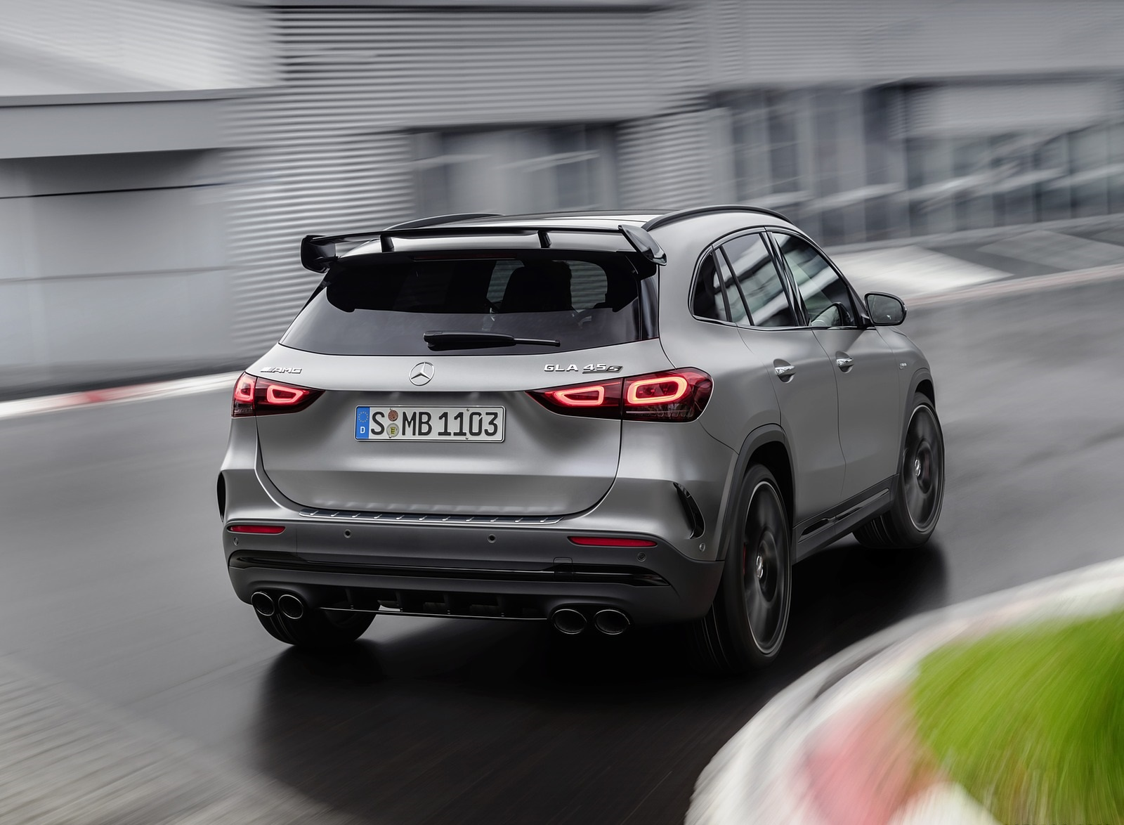 2021 Mercedes-AMG GLA 45 S 4MATIC+ (Color: Magno Grey) Rear Wallpapers (4)