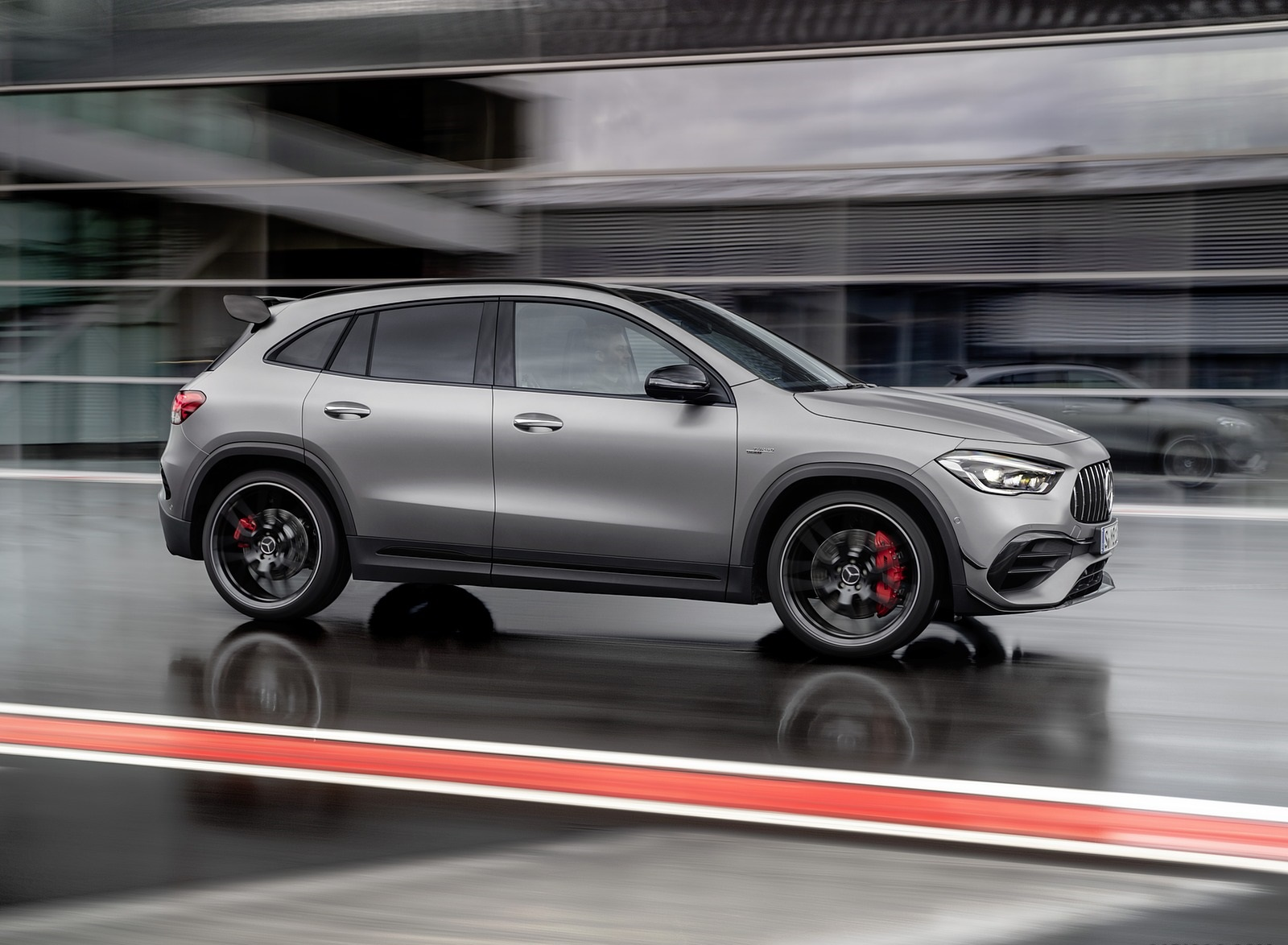 2021 Mercedes-AMG GLA 45 S 4MATIC+ (Color: Magno Grey) Side Wallpapers (2)