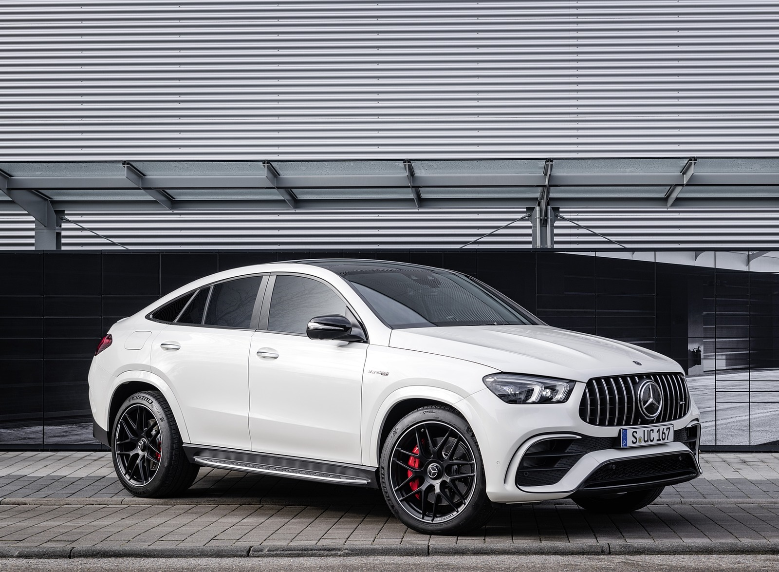 2021 Mercedes-AMG GLE 63 S 4MATIC+ Coupe (Color: Diamond White) Front Three-Quarter Wallpapers (10)