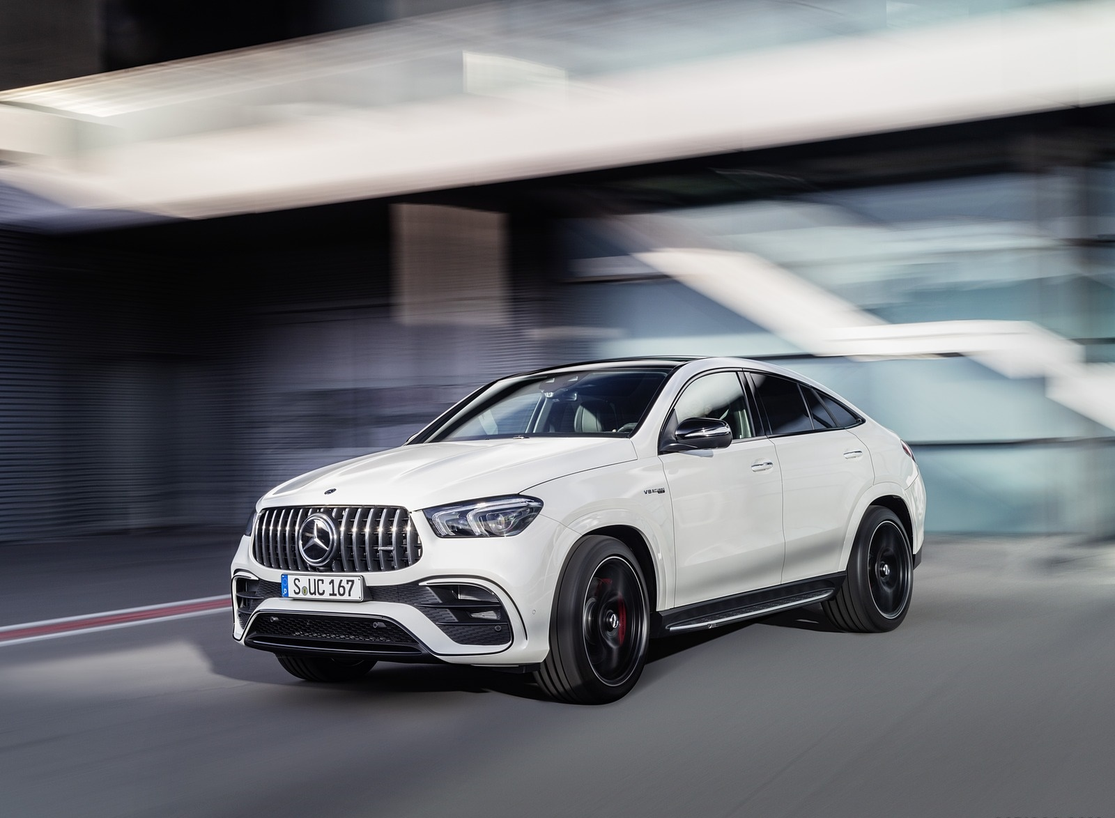 2021 Mercedes-AMG GLE 63 S 4MATIC+ Coupe (Color: Diamond White) Front Three-Quarter Wallpapers (1)