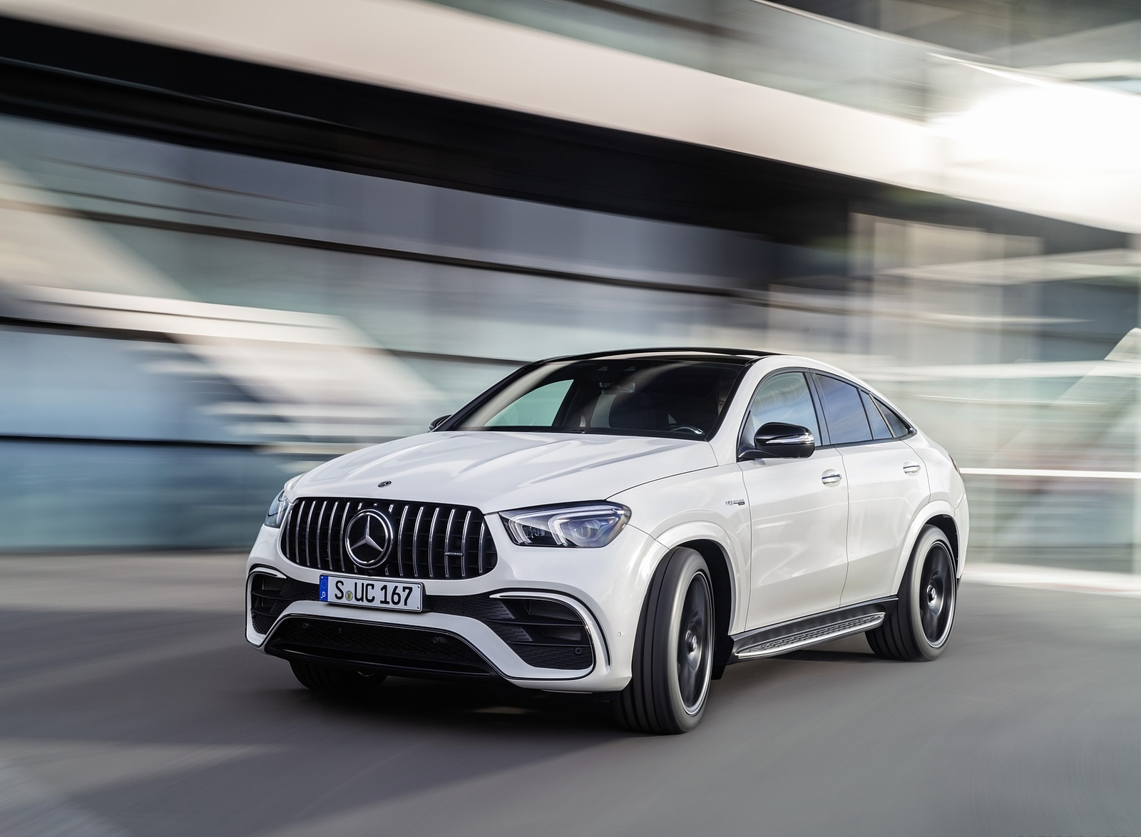 2021 Mercedes-AMG GLE 63 S 4MATIC+ Coupe (Color: Diamond White) Front Wallpapers (5)