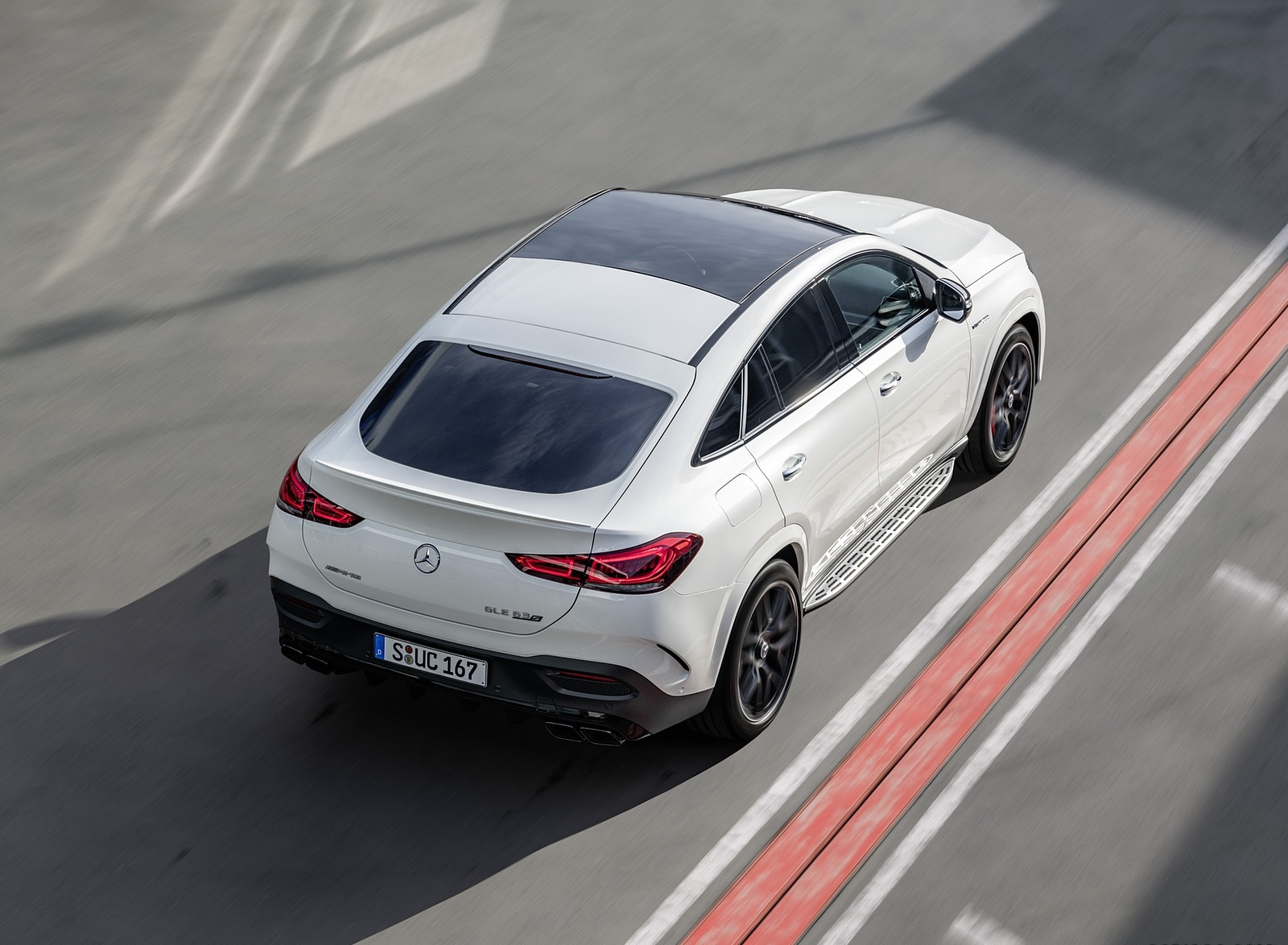 2021 Mercedes-AMG GLE 63 S 4MATIC+ Coupe (Color: Diamond White) Rear Wallpapers (9)
