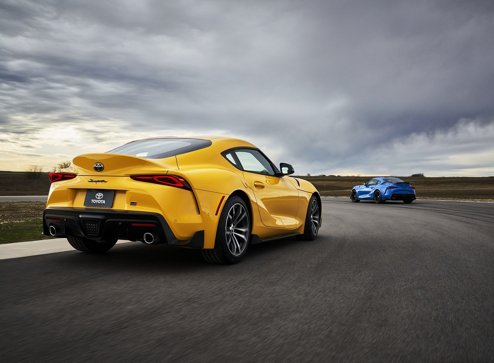 2021 Toyota GR Supra 2.0 and Toyota GR Supra A91 Edition Rear Three-Quarter Wallpapers (5)