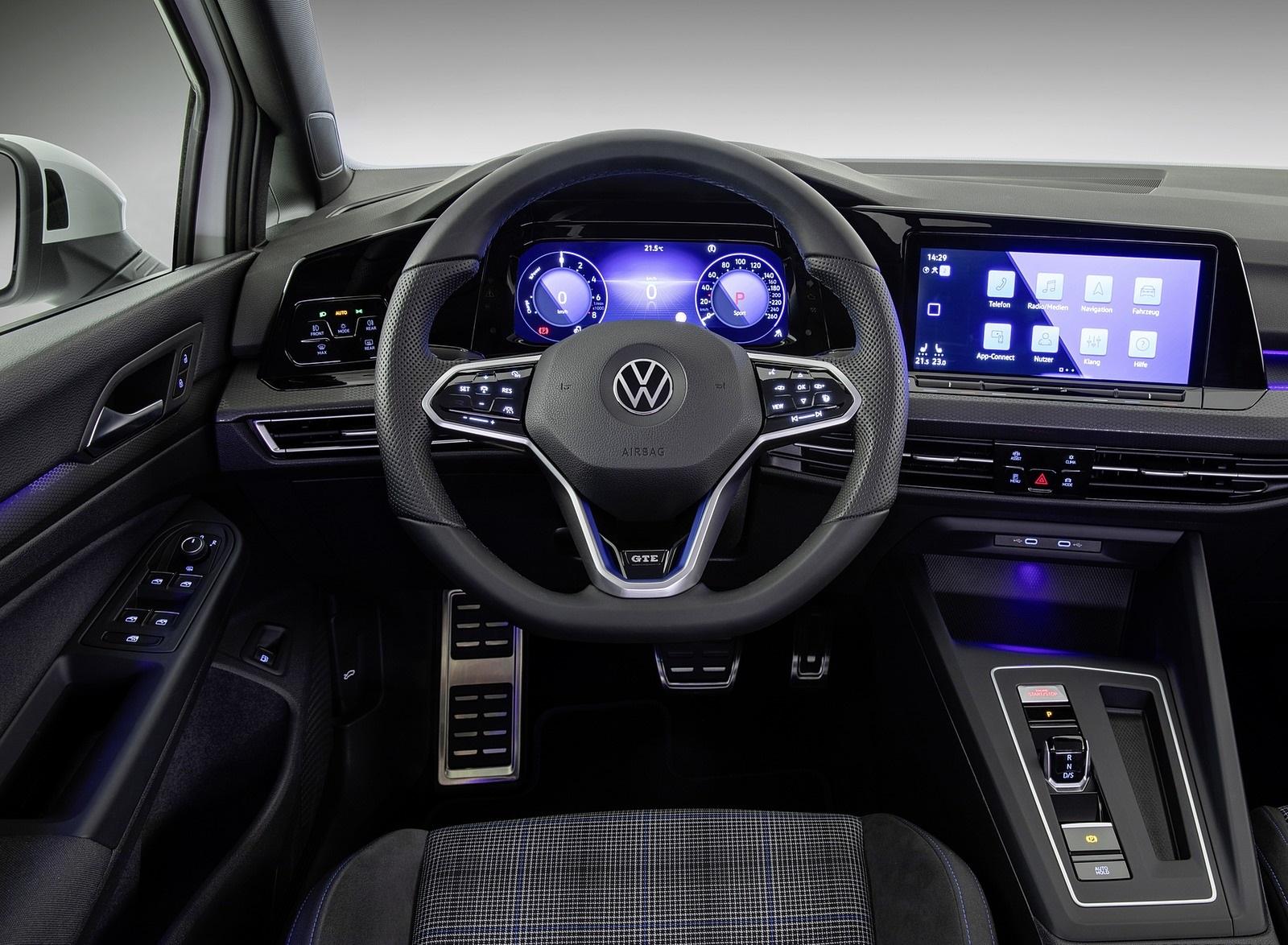 2021 Volkswagen Golf GTE Interior Cockpit Wallpapers #13 of 16